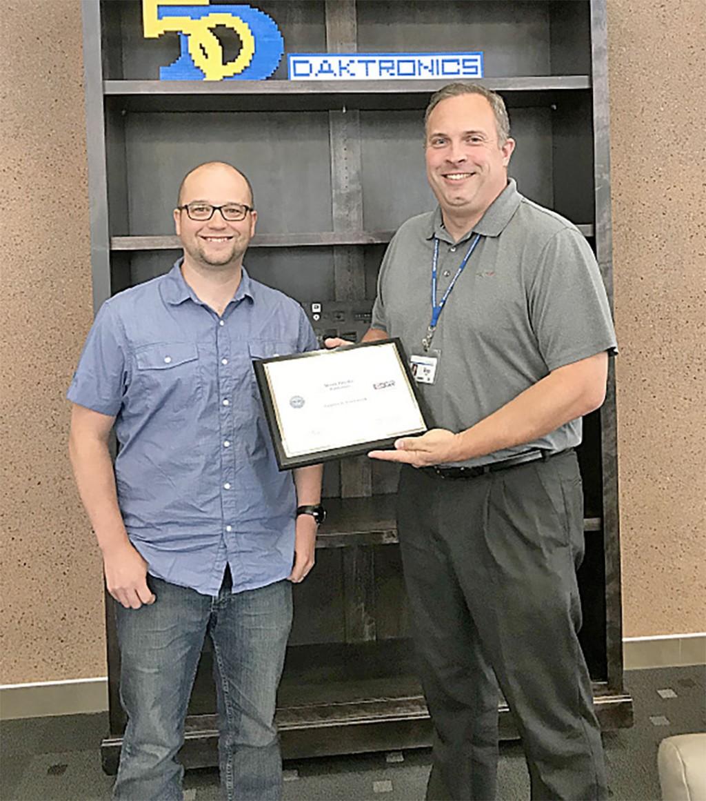 Brookings Register | Daktronics, Larson Manufacturing honored for