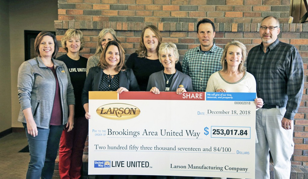 Larson Manufacturing raises $253k for Brookings Area United Way