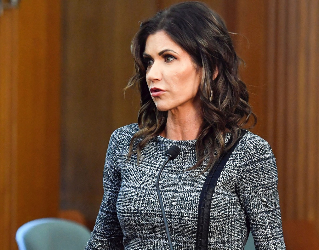 South Dakota's Noem defends forgoing masks as virus surges